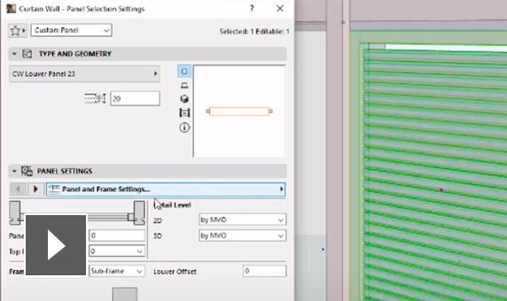 graphisoft archicad características mejoras del muro cortina semcocad