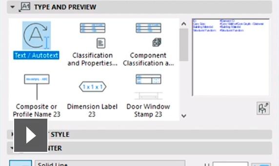 semco graphisoft archicad caracteristicas opciones de lineas de puntero de etiquetas de texto