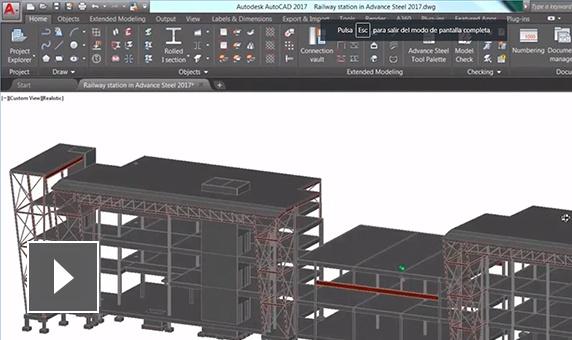 advance steel características modelado 3d para diseño fabricación y construcción en acero semcocad autodesk