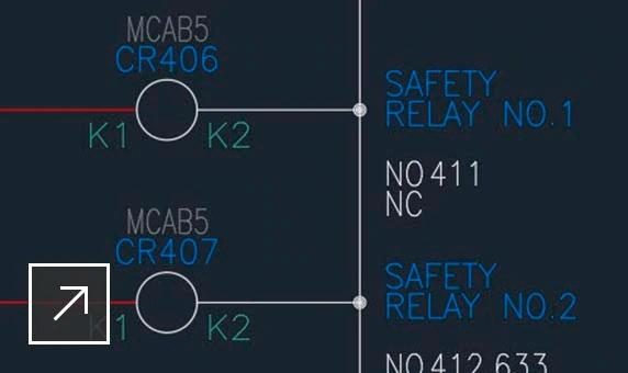 autocad electrical referencia cruzada entre bobina y contactos semco