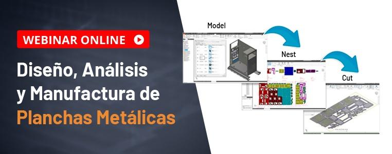 webinar autodesk diseño, analisis y manufactura de planchas metálicas semcocad