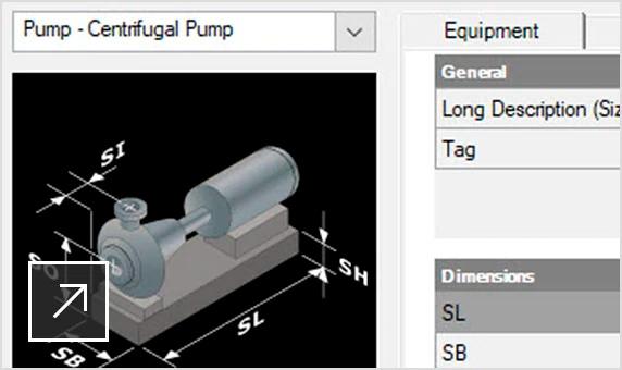 características plant 3d plantilla de equipamiento paramétrico semcocad autodesk
