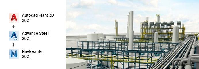 AutoCAD Plant 3D, advance steel, navisworks, autodesk 2021, semcocad