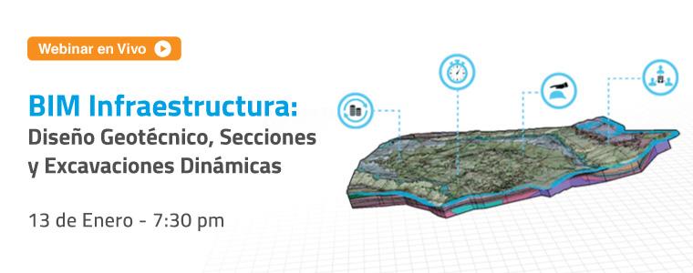 semco webinar Bim infraestructura Diseño Geotécnico, Secciones y excavaciones dinámicas