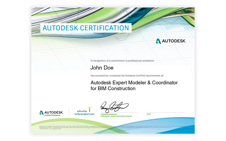 Certificación Profesional Autodesk