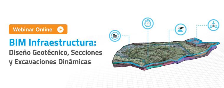 BIM infraestructura: Diseño Geotécnico, Secciones y Excavaciones Dinámicas