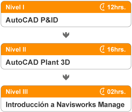 Niveles del curso de AutoCAD Plant 3D